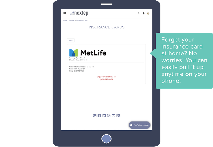 Forget your insurance card at home? No worries! You can easily pull it up anytime on your phone!
