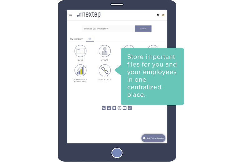 Store important files for you and your employees in one centralized place.